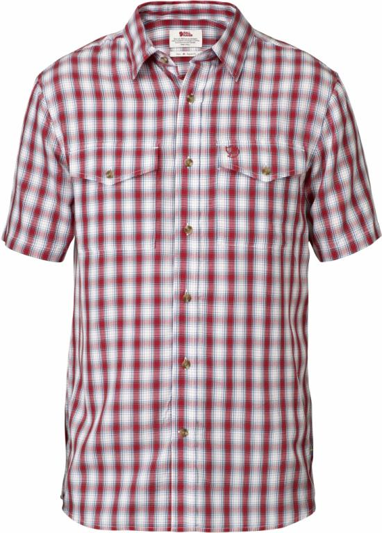 fjellreven abisko cool shirt ss - red