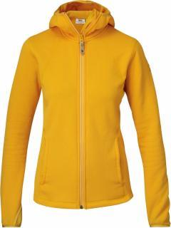 fjellreven abisko hoodie dame - campfire yellow
