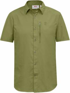 fjellreven abisko hike shirt ss - meadow green