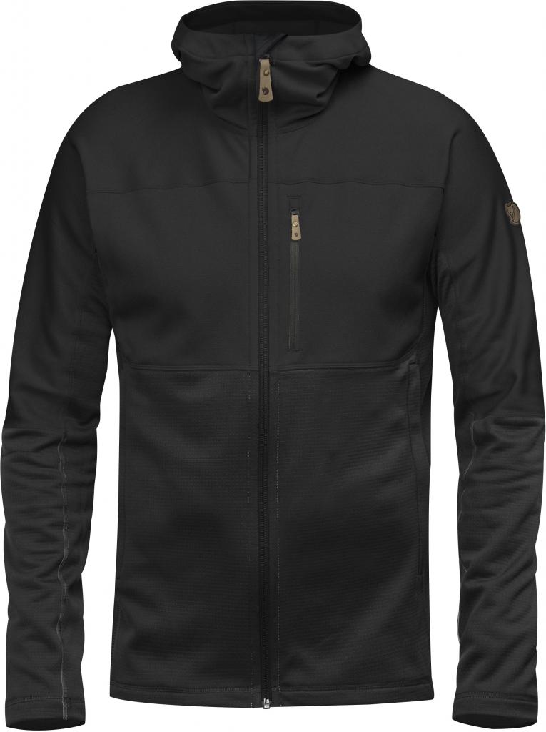 fjellreven abisko trail fleece - black