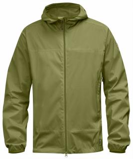 fjellreven abisko windbreaker jacket - meadow green