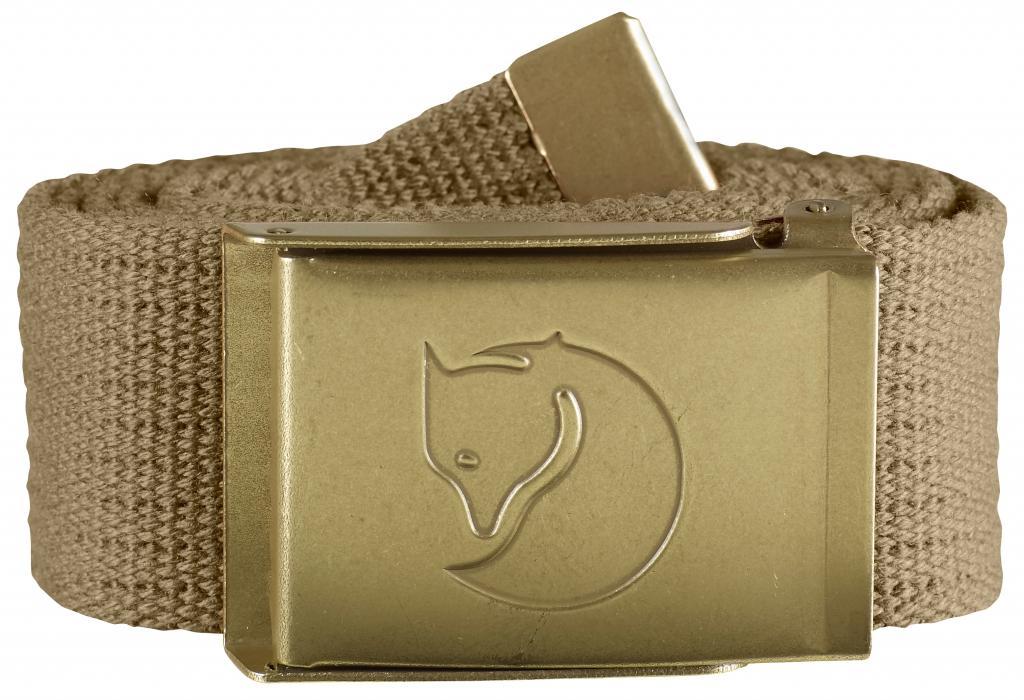 fjellreven canvas brass belt 4cm - sand