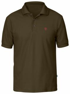 fjellreven crowley pique shirt - dark olive