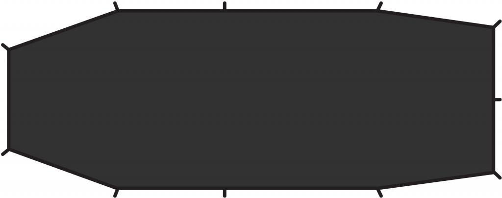 fjellreven endurance 2 footprint - black