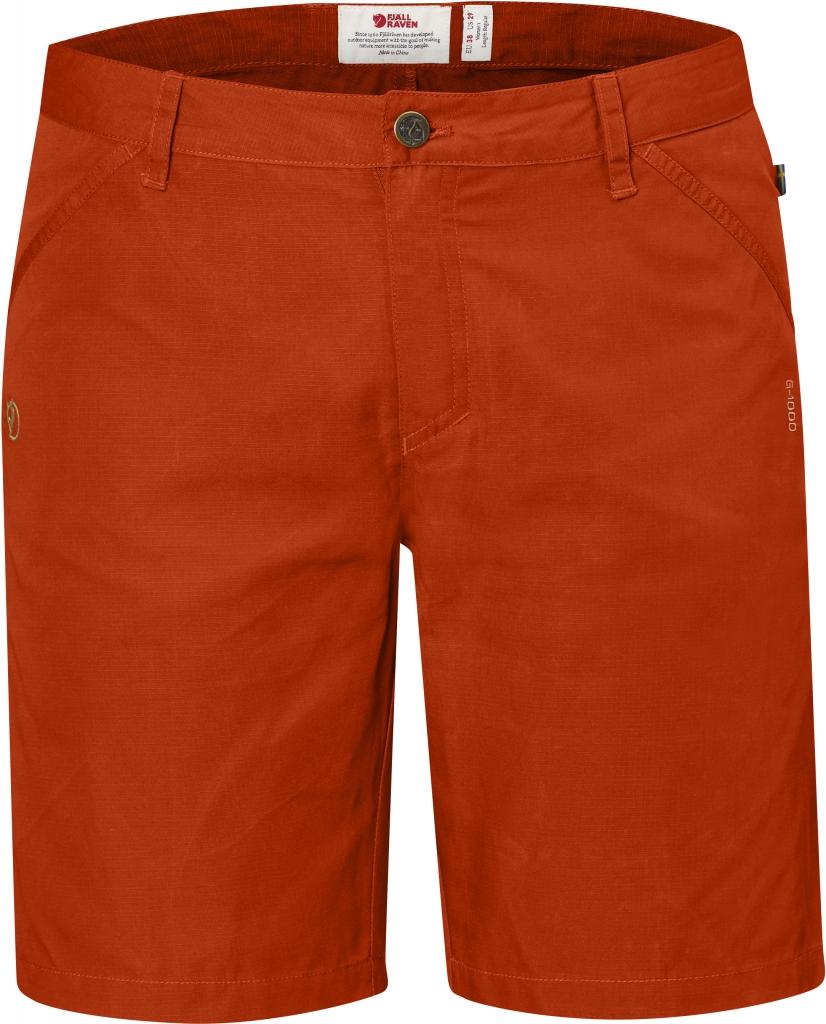 fjellreven high coast shorts dame - flame orange