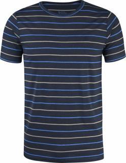 fjellreven high coast stripe t-shirt - navy