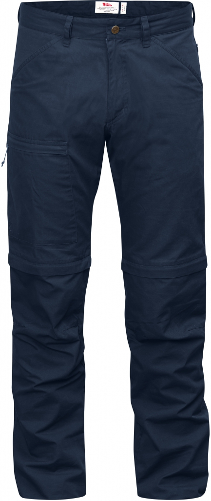 fjellreven high coast trousers zip-off - navy