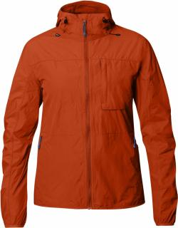 fjellreven high coast wind jakke dame - flame orange