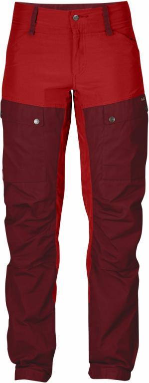 fjellreven keb bukse curved dame - ox red