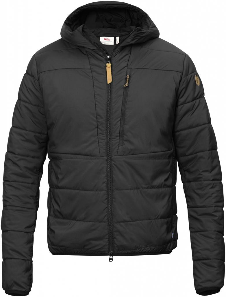 fjellreven keb padded hoodie - black