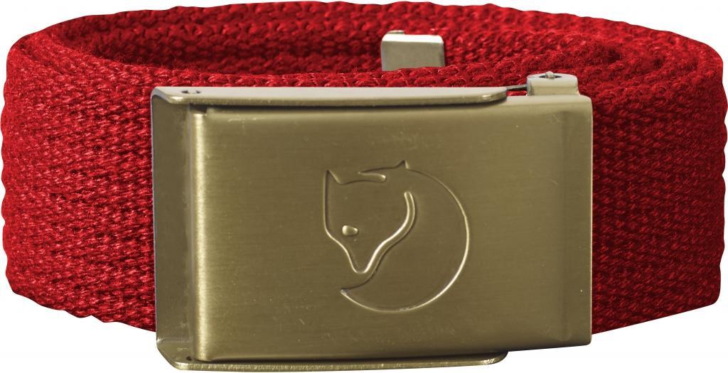 fjellreven kids canvas brass belte - red