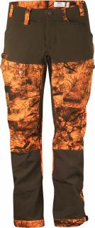 fjellreven lappland hybrid bukse camo dame - orange camo
