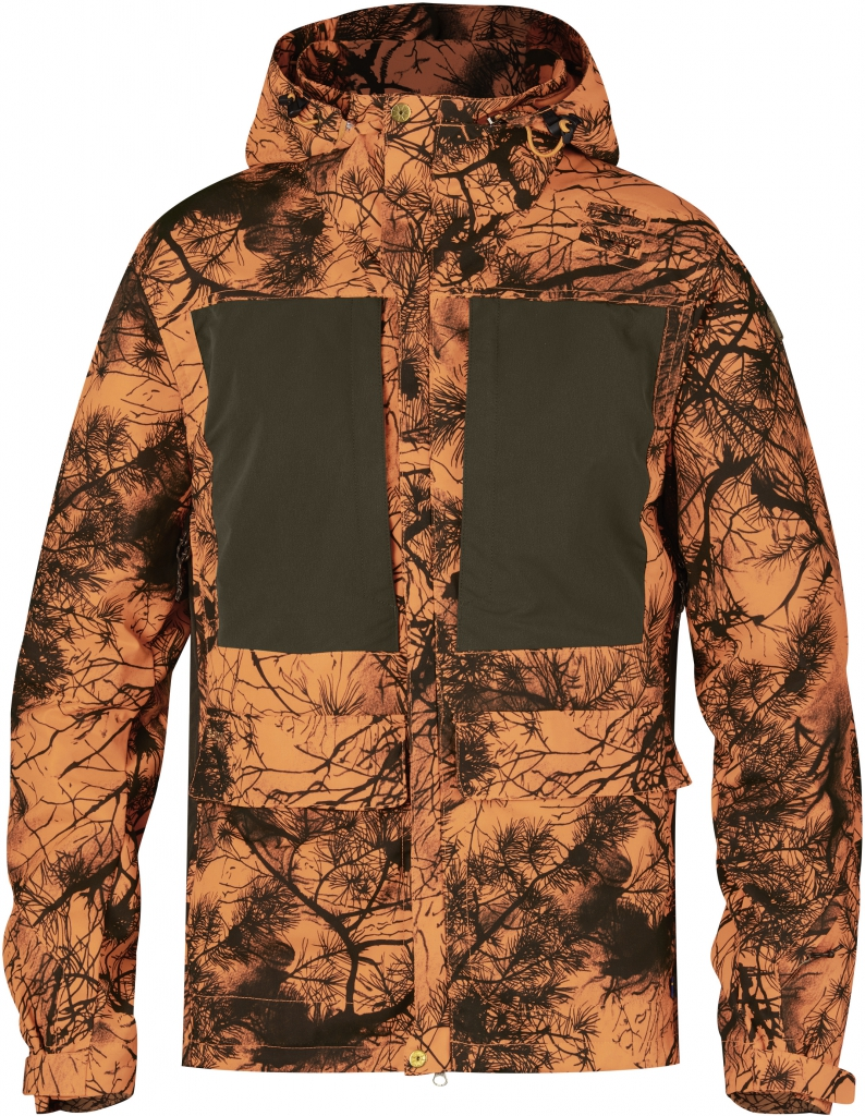 fjellreven lappland hybrid jakke camo - orange camo