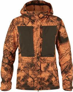 fjellreven lappland hybrid jakke camo dame - orange camo