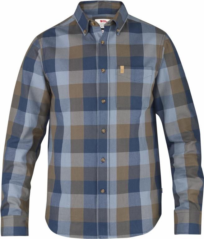 fjellreven Övik big check shirt ls - blueberry