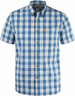 fjellreven Övik button down shirt ss - lake blue