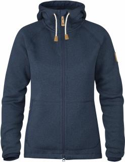 fjellreven Övik fleece hoodie dame - navy
