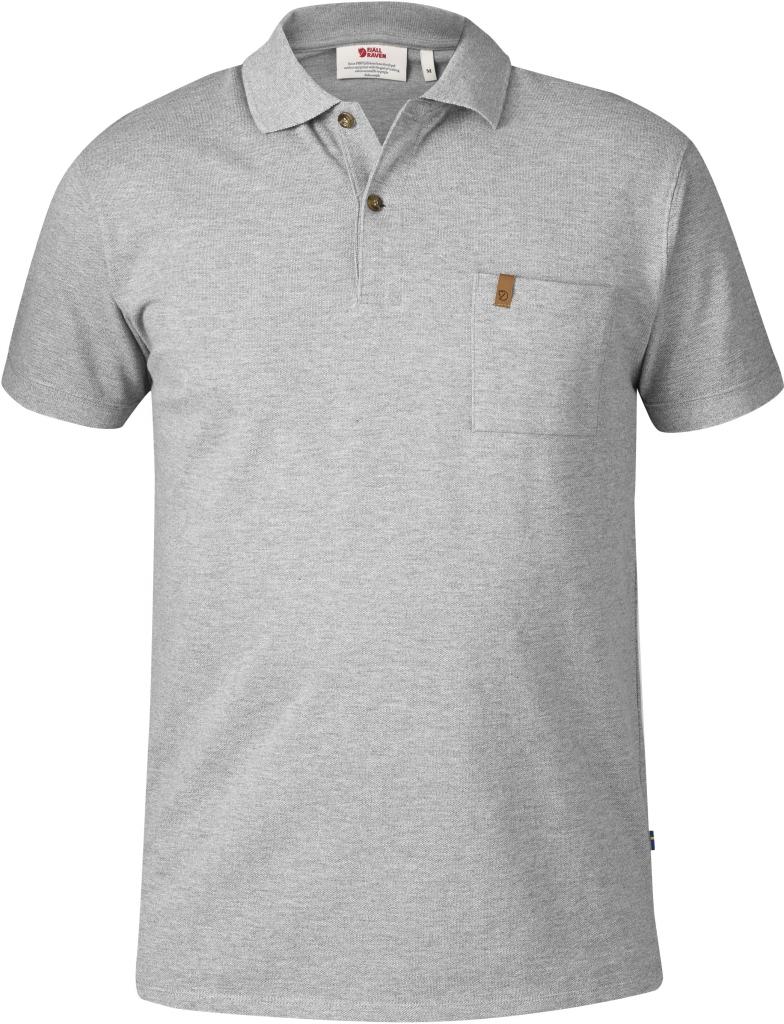 fjellreven Övik pique shirt grey — Fjellrevenshop
