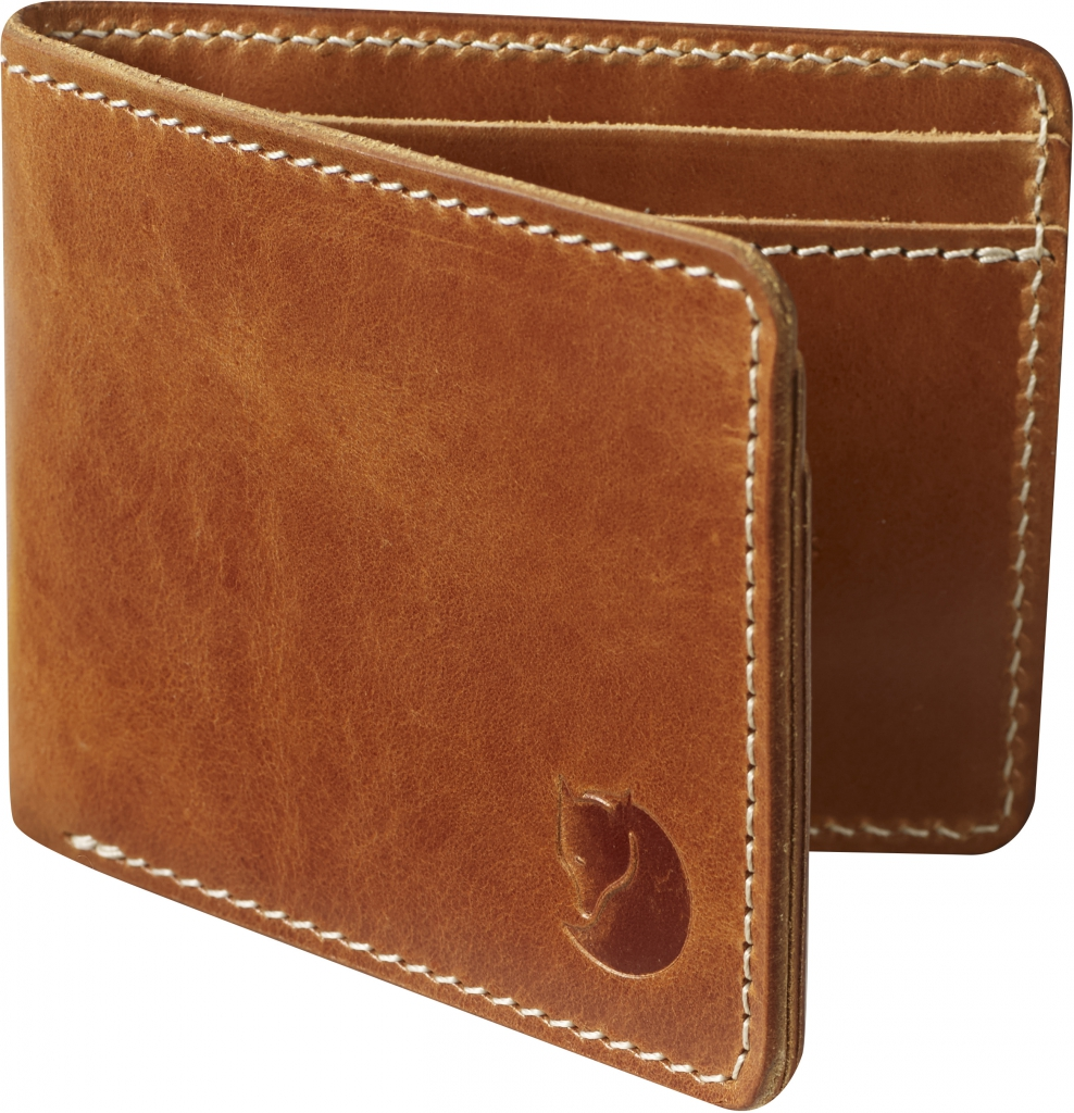 fjellreven Övik wallet - leather cognac