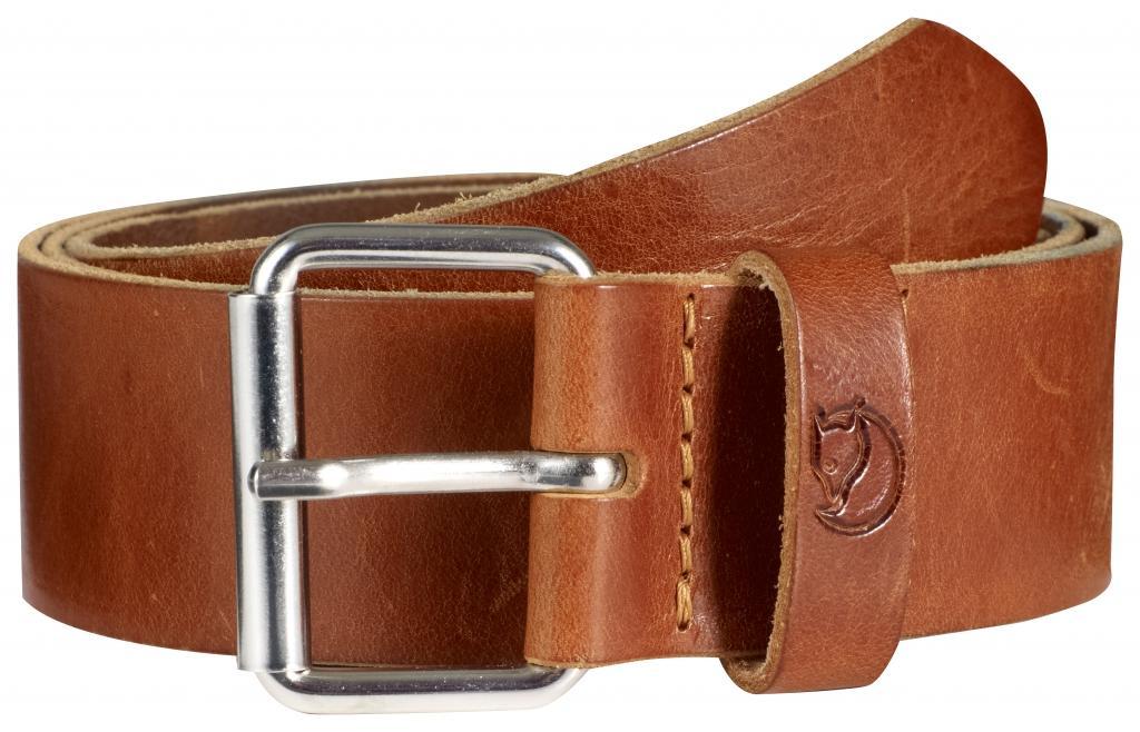 fjellreven singi belt 4 cm. - leather cognac