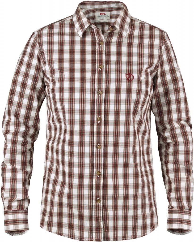 fjellreven sörmland shirt ls dame - chestnut