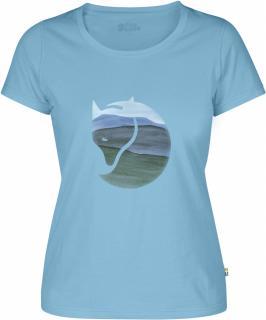 fjellreven watercolour fox t-shirt w - bluebird