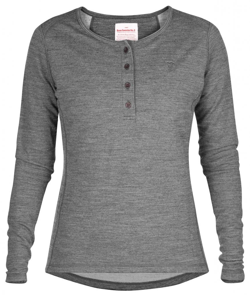 fjellreven base sweater no. 3 dame - grey