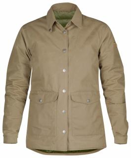 fjellreven down shirt jacket no. 1 dame - sand