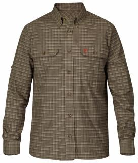 fjellreven forest flannel shirt - dark olive