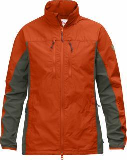 fjellreven high coast hybrid jakke dame - flame orange