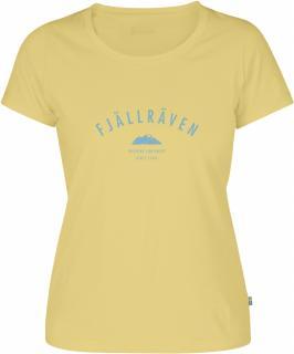 fjellreven trekking equipment t-shirt dame - pale yellow