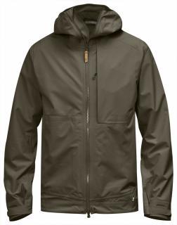 fjellreven abisko eco-shell jakke - tarmac