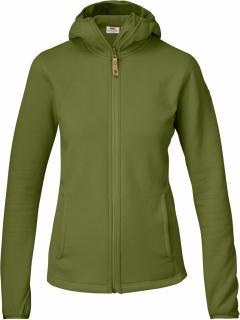 fjellreven abisko fleece hoodie dame - avocado
