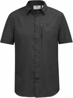 fjellreven abisko hike shirt ss - dark-grey