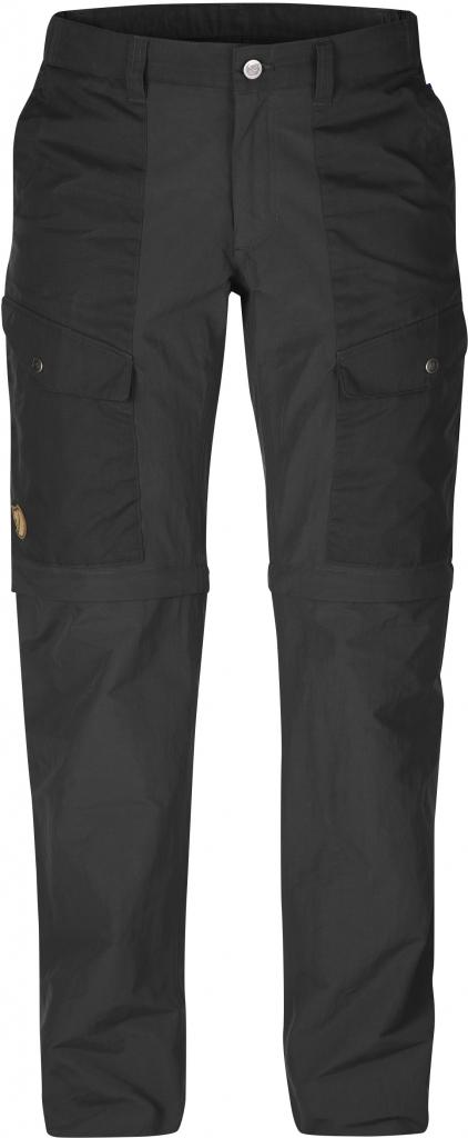 fjellreven abisko hybrid zip off trousers dame - dark grey