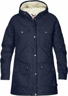 fjellreven greenland winter parka dame - dark navy