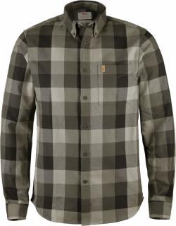 fjellreven Övik big check shirt ls - black