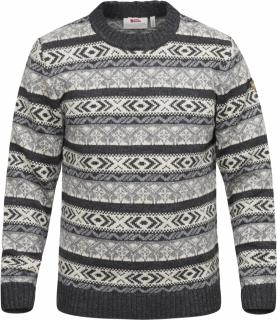 fjellreven Övik folk knit sweater - dark grey