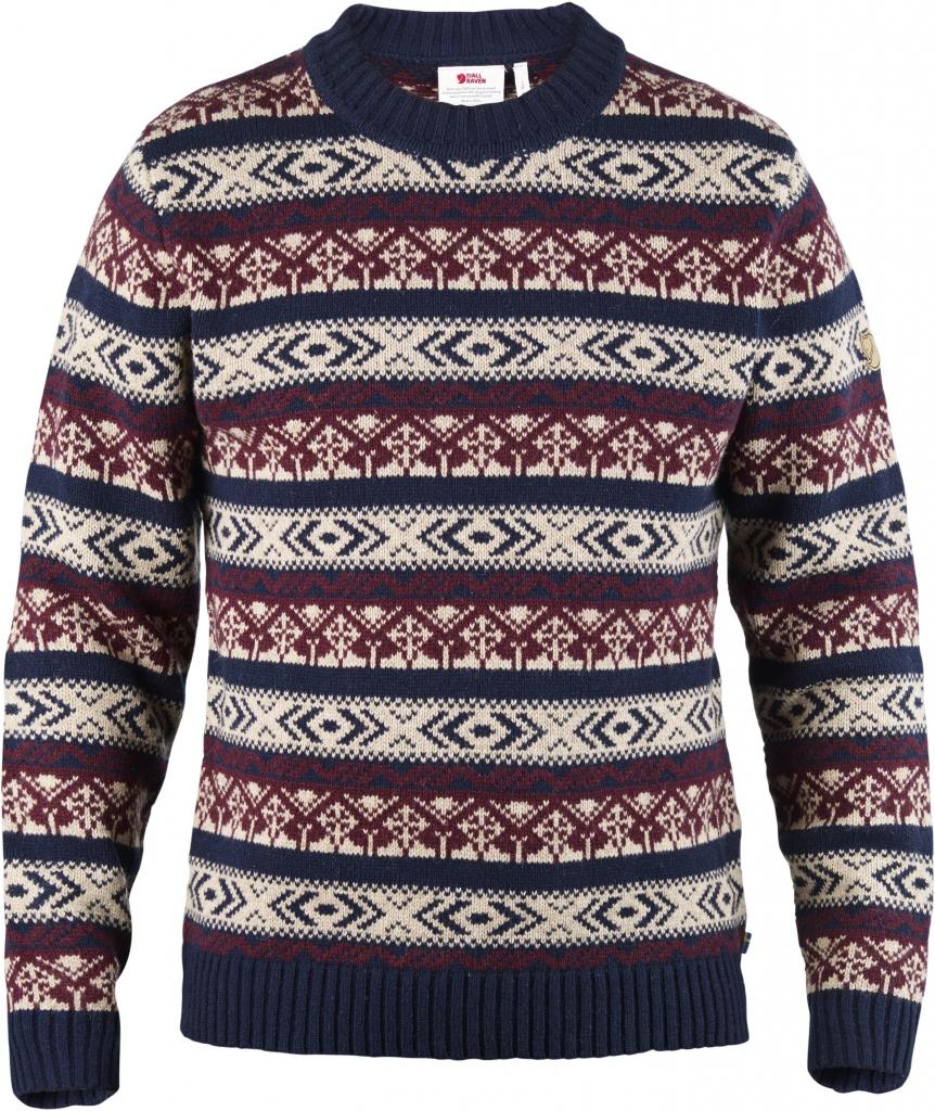 fjellreven Övik folk knit sweater - dark navy