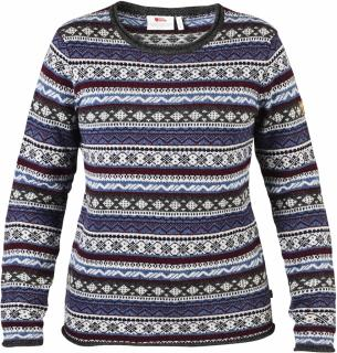 fjellreven Övik folk knit sweater dame - uncle blue