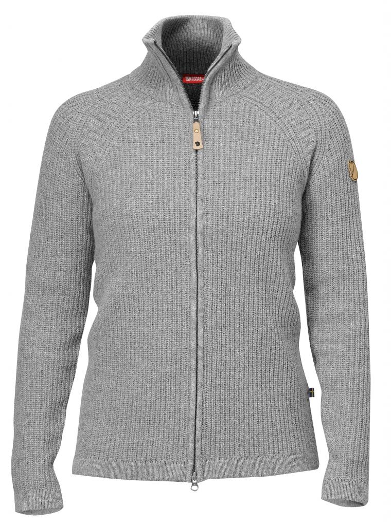 fjellreven Övik wool cardigan - grey
