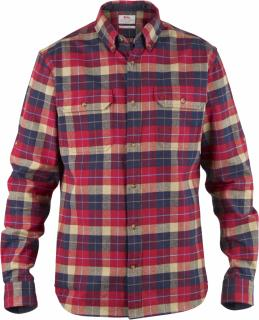 fjellreven singi heavy flannel shirt - deep red