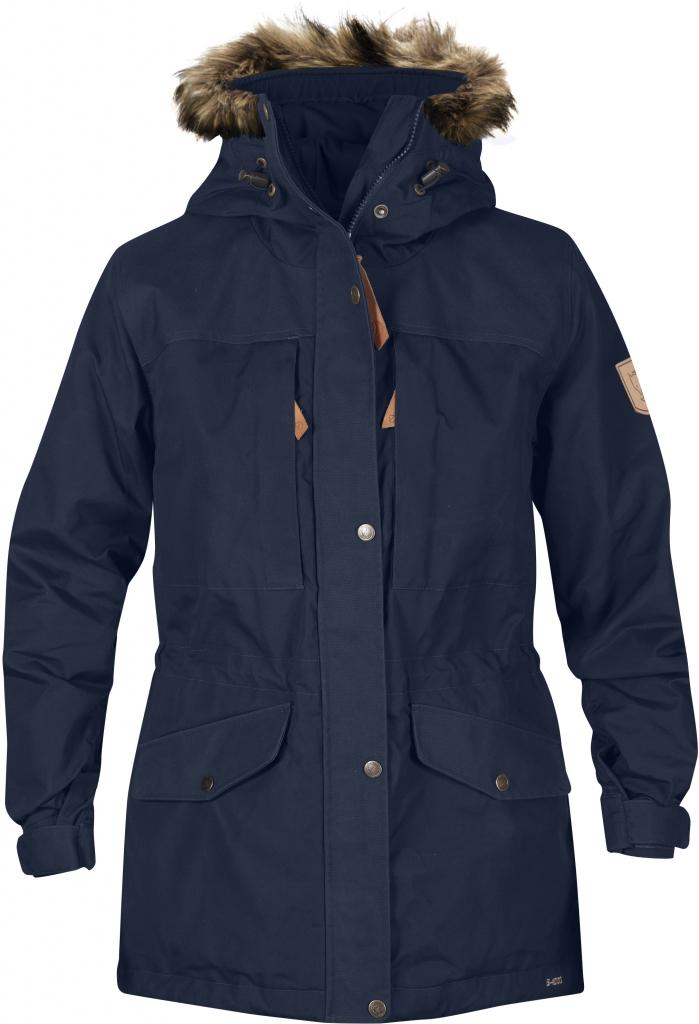 fjellreven singi winter jacket women - dark navy