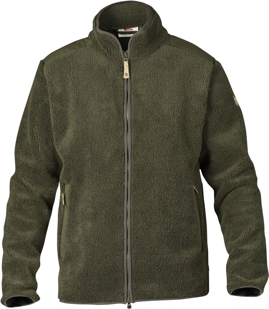 fjellreven zip sweater - dark-olive
