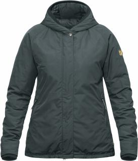 fjellreven high coast padded jakke dame - ash grey