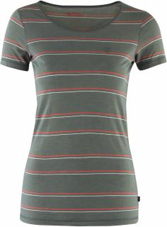 fjellreven high coast stripe t-shirt dame - ash grey