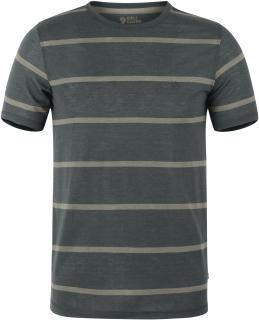 fjellreven high coast stripe t-shirt - ash grey