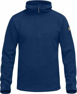 fjellreven high coast wool hoodie - estate blue