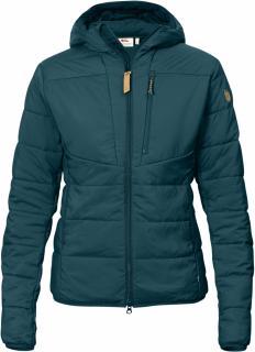 fjellreven keb padded hoodie dame - glacier green