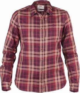 fjellreven Övik flannel shirt dame - dark garnet